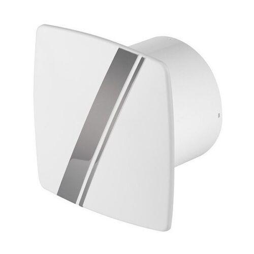 "4 /""blanc panneau avant avec rayure wlb100 chrome Salle de bain Hotte aspirante 100mm"