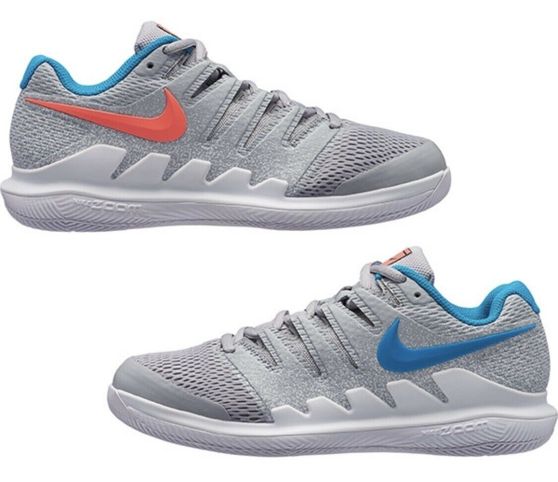 Nike Women's Air Zoom Vapor X HC tennis shoes AA8027-064 Wolf Grey Lava  140