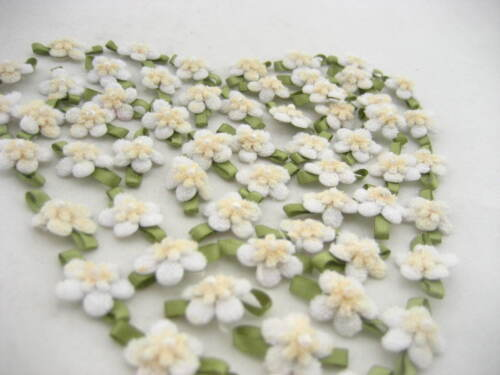 10 White Sew on flower daisy applique sewing accessories trimming hairpin