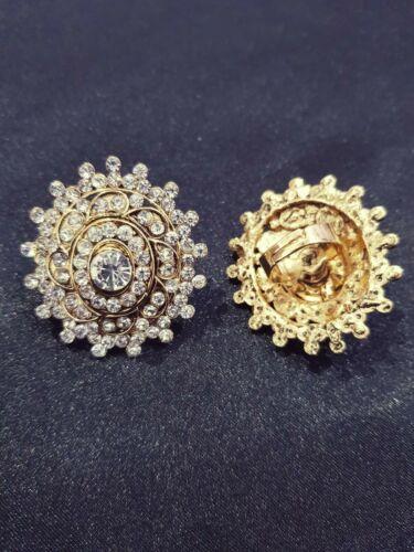 Bollywood Asian Indian Wedding Costume Gold Diamond Bespoke One Size Ring