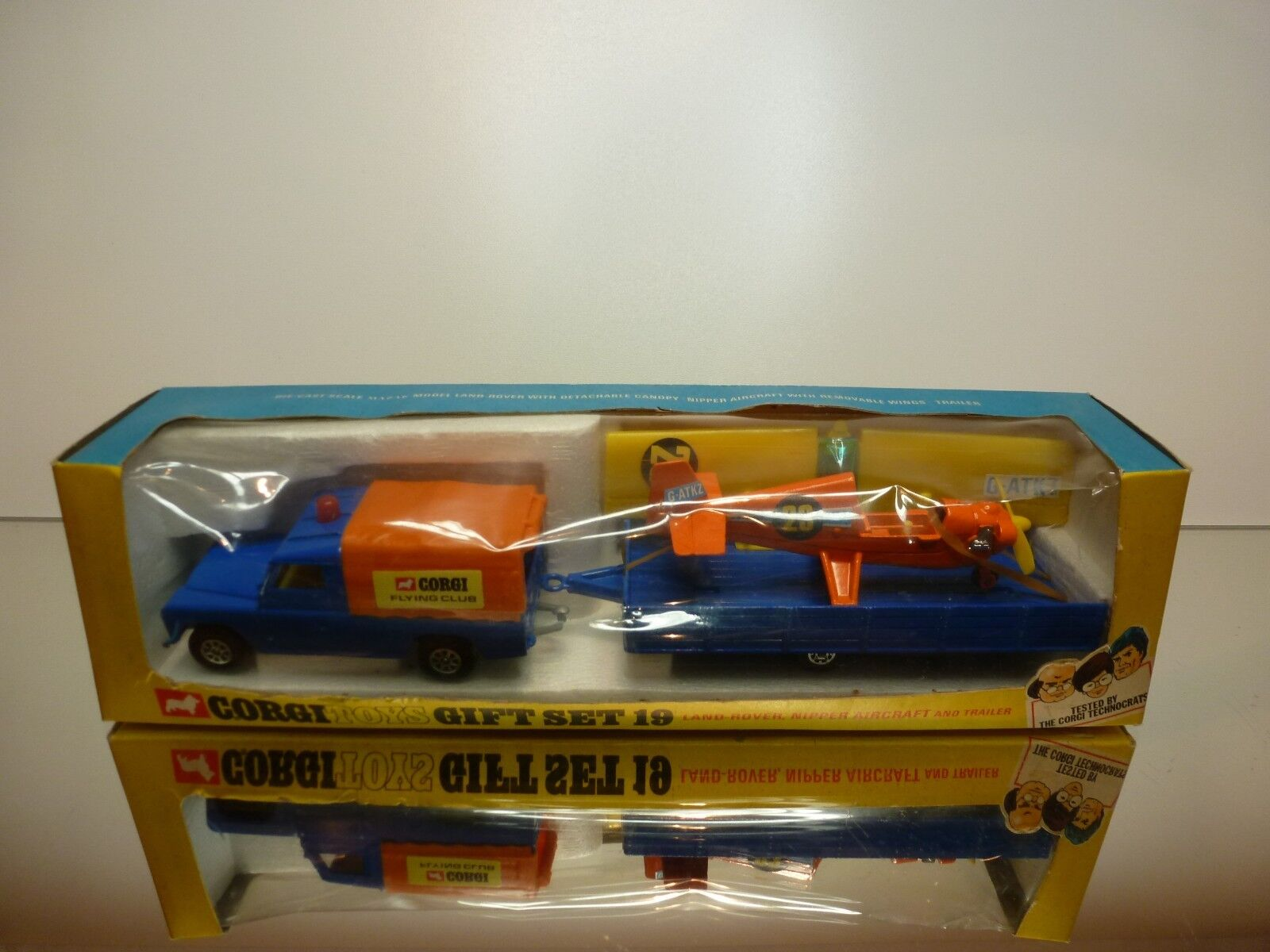 CORGI TOYS GIFT SET 19 LAND ROVER NIPPER AIRCRAFT - bleu 1 43 - VERY GOOD IN BOX