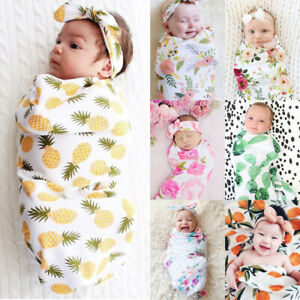 AU-2pcs-Soft-Infant-Swaddle-Muslin-Blanket-Newborn-Baby-Wrap-Swaddling-Blanket