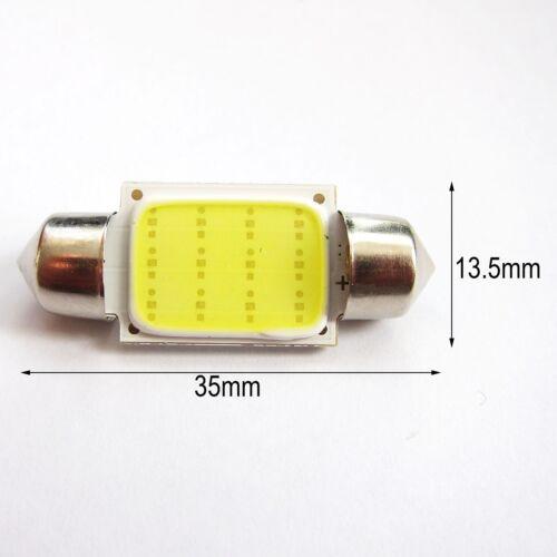 UK x2 24v C5W 35//36 38 41mm car interior number plate festoon LED COB BULB