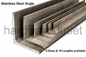 stainless steel angle iron 304 grade all sizes available see