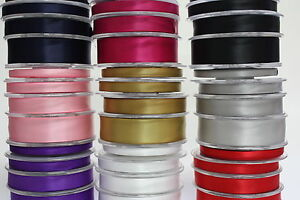 Satin-Ribbon-25-Metre-Rolls-35-Colours-3mm-6mm-10mm-16mm-25mm-38mm-50mm
