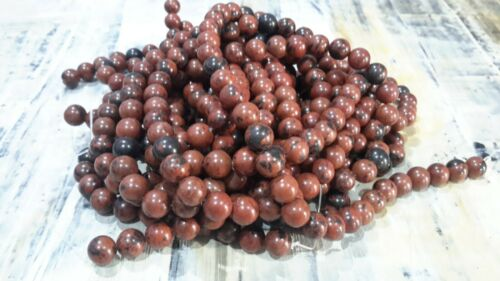 Natural Mahogany Obsidian  8mm Oz Seller 48 pcs Free postage