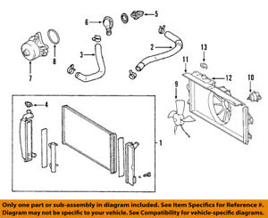 For Toyota Genuine Radiator Coolant Hose Lower 165720D120