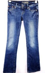 American-Eagle-Jeans-Size-0-Reg-Womens-Artist-Stretch-Low-Rise-Medium-Wash-AEO