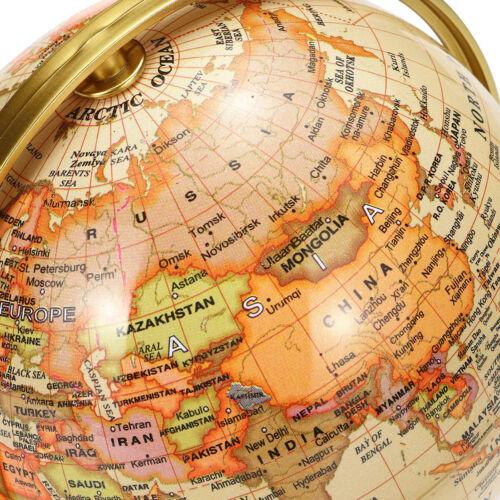 360° Dreh Schwenk Globus Weltkugel Erdglobus Antik Retro Desig Golden