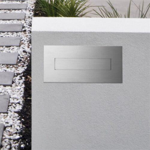 Sandleford Horizon BRICK-IN LETTERBOX 270x110x500mm Stainless Steel Lockable