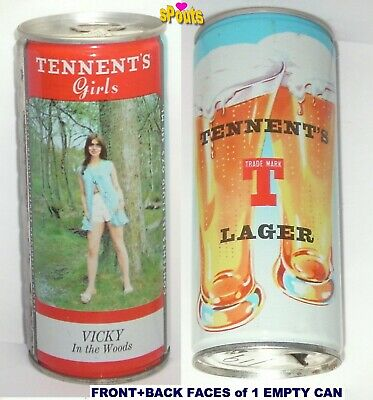 TENNENT/'S PENNY IN THE EVENING ss Beer CAN Girl Fair UNITED KINGDOM SCOTLAND