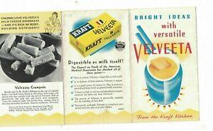 Velveeta Cheese Brochure Bright Ideas With Versatile Velveeta Kraft 1938