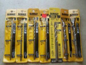 Dewalt-7-Piece-Hammer-Drill-Bit-Set-5-32-034-to-5-8-034-Length-6-034-Round-Shank-New