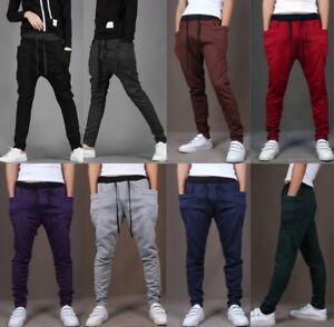 Men-039-s-Cotton-Casual-Trousers-Pocket-Long-Sportswear-Sports-Jogging-Haren-Pants
