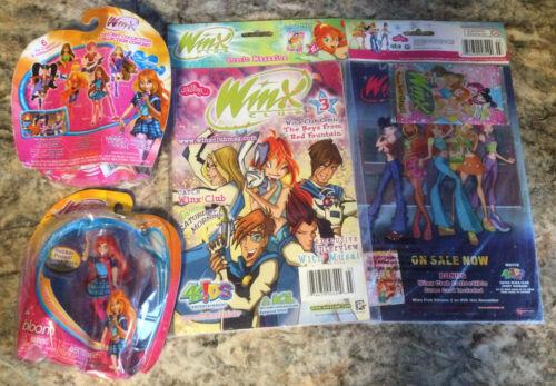 New Winx Club Jakks Pacific Doll Bloom /& Comic Magazine Trading Cards too
