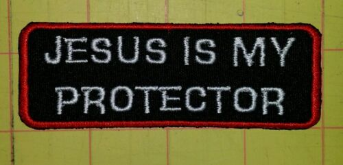 Jesus is my protector motorcycle biker embroidered vest patch iron on New