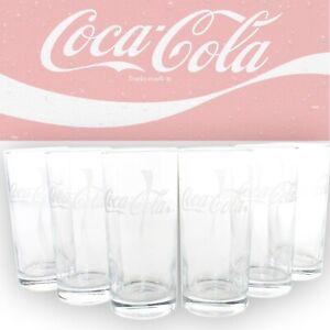 COCA-COLA-Glaeser-Set-6x0-3-Wave-Coke-Glas-geeicht-Trinkglas-Limonade-mn822-1351