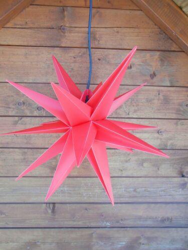 4m Câble Advent étoile faltstern 50 cm extérieur étoile de Noël étoile 15 vite rouge