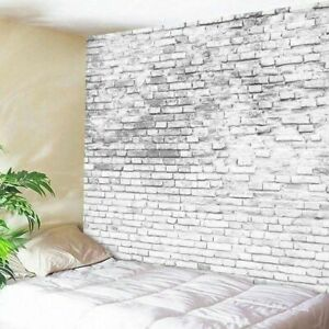 White Brick Pattern Tapestry New Room Bedspread Art Wall Hanging Throw Tapestry by Unbranded