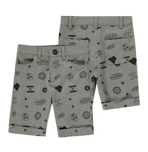 Garcons-Personnage-Regulier-All-Over-Print-Short-Chino-Tailles-Age-de-3-To-10-ans