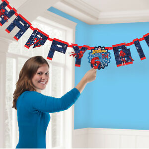 Spiderman-Joyeux-Anniversaire-Add-Age-Banniere-Fete-Decoration-super-heros-Bunting