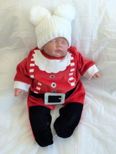 Baby Strampler Weihnachtsmann Einteiler Overall Weihnachten Gr.56//62//68//74
