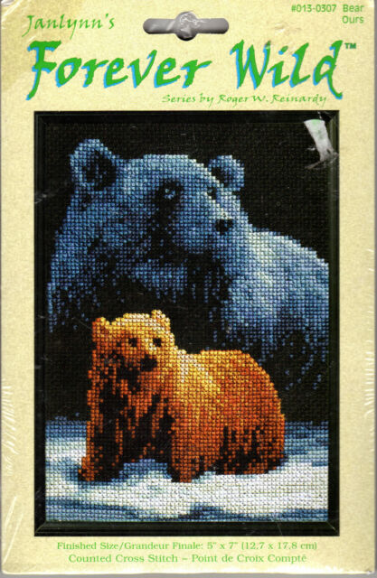 Animals Grizzley Bear Family Counted Cross Stitch Kit Wildlife