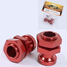 Yeah Racing WA-0202RD Red Aluminum Wheel Adaptor 17mm for 1/10 Slash 4x4