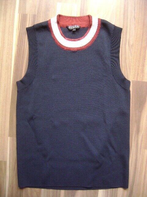 @ Review @ Rock + Oberteil dunkelblau Size XL UK 16 Gr. 42 glänzend festlich