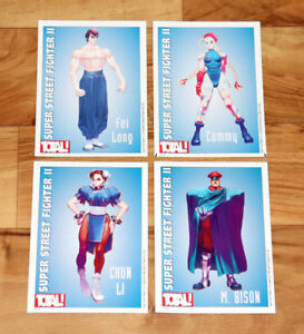 Details About Old Collectible Card Super Street Fighter Ii 2 Fei Long Cammy Chun Li M Bison