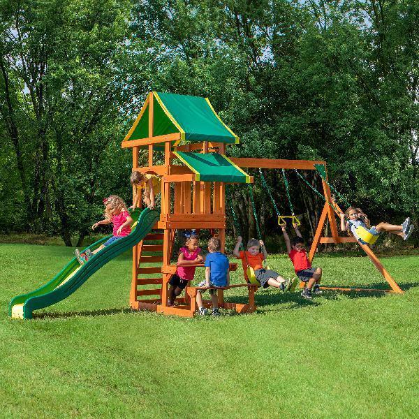 Backyard Discovery Aurora Wooden Cedar Swing Set | eBay