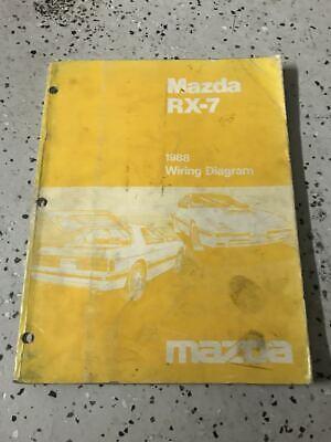 1988 Mazda RX-7 RX7 Electrical Wiring Diagram ...