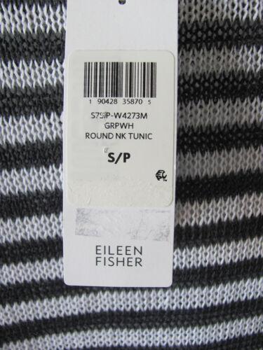188 nwt Eileen Neck organisk Linen Round small Fisher 190428358705 Tunisk hvid grafit Strik qqpgPA