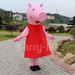 Brand-Peppa-Pig-Mascot-Costume-Pink-pig-Animal-Mascot-Costume-Adult-suit-size