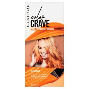 Clairol-Colour-Crave-Apricot-Hair-Dye-Semi-Permanent-Orange-Colourant-Bright-NEW