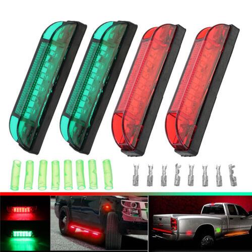 4x Boat Navigation LED Lighting RED & GREEN Waterproof Marine Utility Strip  !
