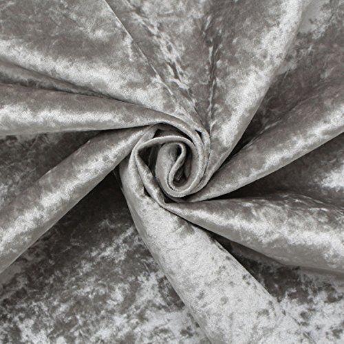 26 INCH Grey Crushed Velvet Chesterfield Diamante Headboard 3Ft 5Ft 4Ft6 4Ft