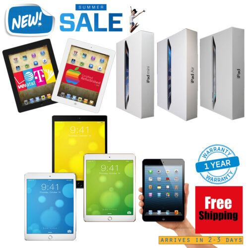1 of 1 - Apple iPad 2,3,4,Air 1/2,mini 1/2/3/4 16GB/32GB/64GB/128GB Wi-Fi +3G/4G LTE