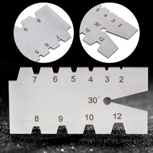 TR30 Degree Screw Thread Gauge Gage Tool Grinding Stainless Steel Welding Feeler