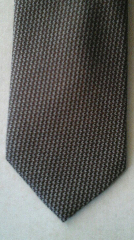 Seidenkrawatte aus reiner Seide 7,5 cm breit braun beige schwarz NEU
