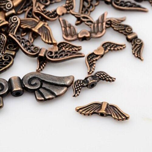 30 G Tibétain Style ailes d/'ange mixte Style et Taille 5 couleurs F5
