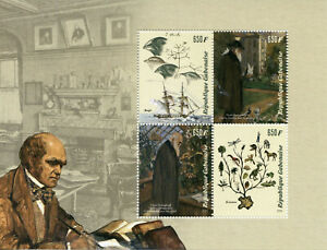 Gabon-Stamps-2019-MNH-Charles-Darwin-Finches-Birds-Science-Famous-People-4v-M-S