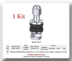 1-Kit-VS-8-Chrome-Tire-Valve-Stem-for-Holes-11-5-mm-453-034-Fits-Motorcycle