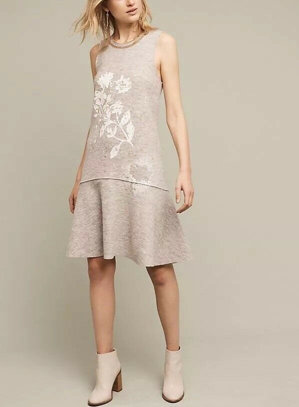 Anthropologie Knitted & Knotted Afterlight Wool Dress Large Retail