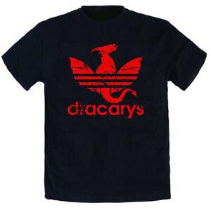 Maglietta T-shirt Trono Di Spade DRACARYS Drago Series Tv Maglia Game Of Thrones