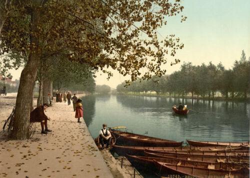 "PS32 VINTAGE 1890/'s photochrom foto la Promenade BEDFORD-STAMPA A3 17 /""x12/"""