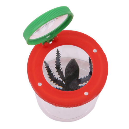 Kids Insect Viewing Tub Magnifying Bug Pot Toy Children Discovery Bag Filler HM