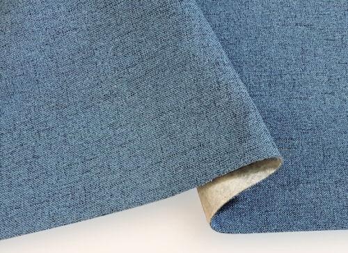 Hochwertiger strukturierter Bezugsstoff Möbelstoff Jeansblau Farbtöne