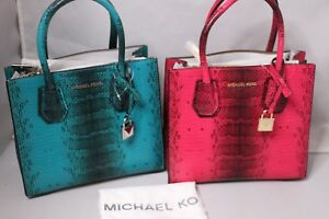 afb35b26dc8b Image is loading MICHAEL-Michael-Kors-Studio-Mercer-Medium-Messenger-Bag-