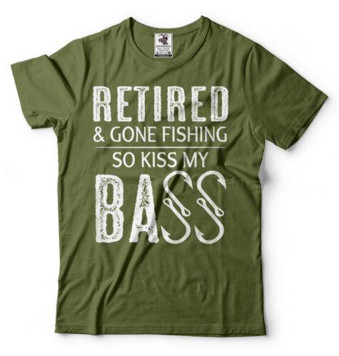 Fishing Tee Shirt Mens Funny Retirement Fishing Hobby Shirt Father/'s day Gift